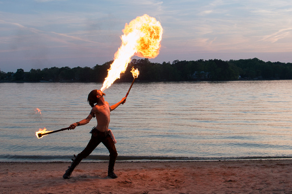 Fire Dancer - Lake Wylie (horizontal)
