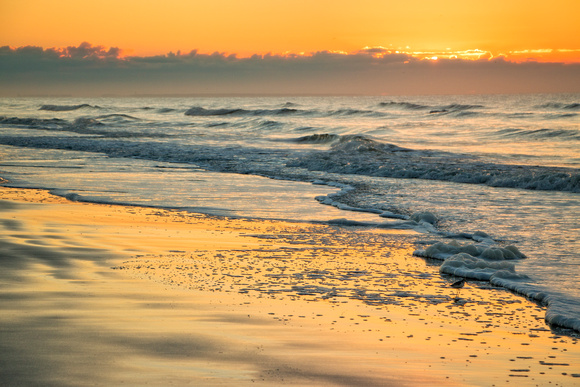 Golden sunrise at Oak Island